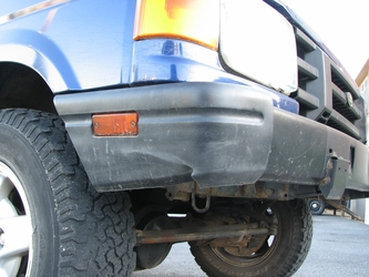 Cracked Bumper Corner (Front Right)