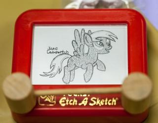 Etch-A-Sketch Derpy