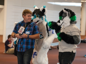 Fursuiters and Person