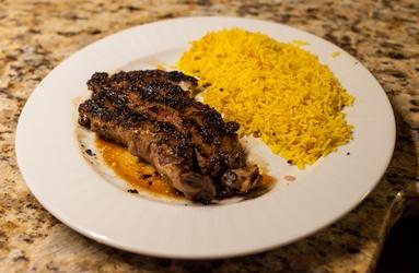 Ribeye with Saffron Rice