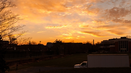Sunset Over Dorms