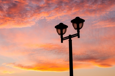 Sunset Streetlight