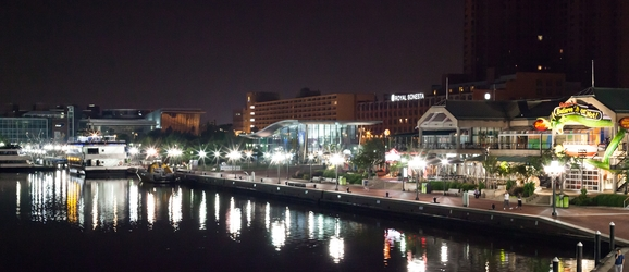 Baltimore Inner Harbor At Night