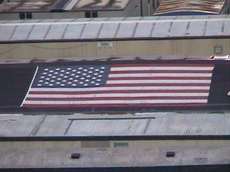 Flag on Roof