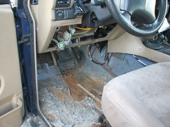 Floor Rust (Driver Footwell)
