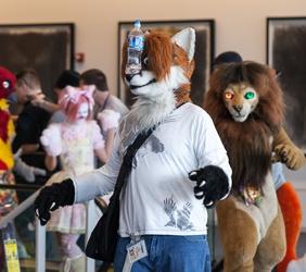 Fursuit Parade - Balancing Fox