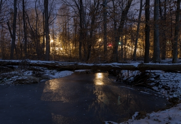Icy Urban Stream