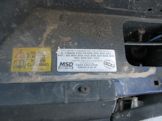 MSD CARB Sticker