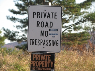 Trespassing Sign