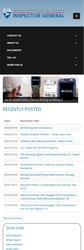 USPSOIG.gov Rebuild - Homepage (Mobile)