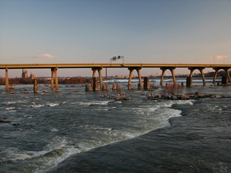 James River in Winter